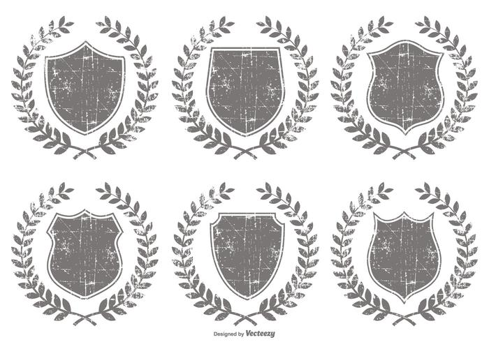 Grunge Crest Shapes