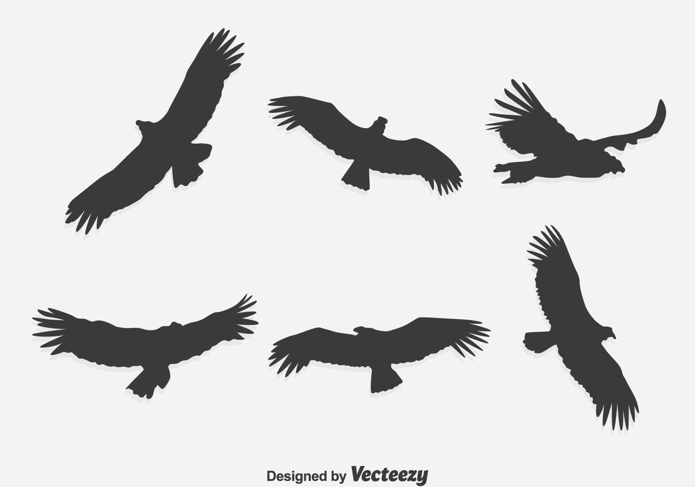silhouette condor vector set download free vector art