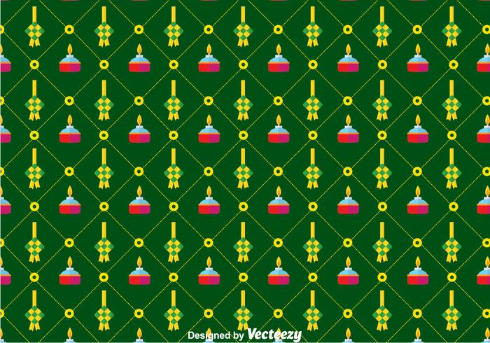 Flat Ketupat Pattern Background