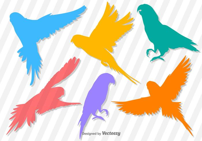 Budgie Vector Silhouettes