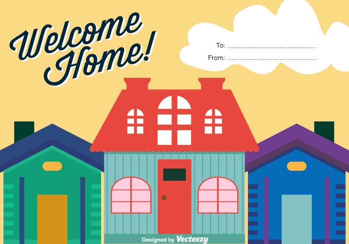 Welcome Home Vector Background