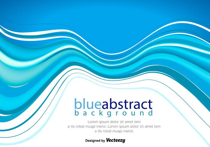 Vector Abstract Blue Wave Background