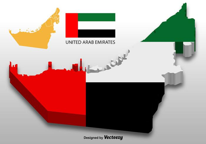 United Arab Emirates - Vector 3D Map