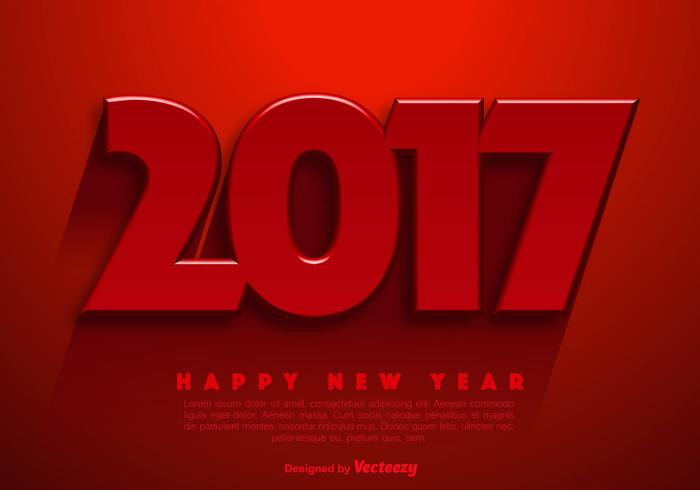 New Year 2017 Vector Abstract Background