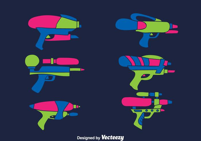 Water Gun Collection Vector
