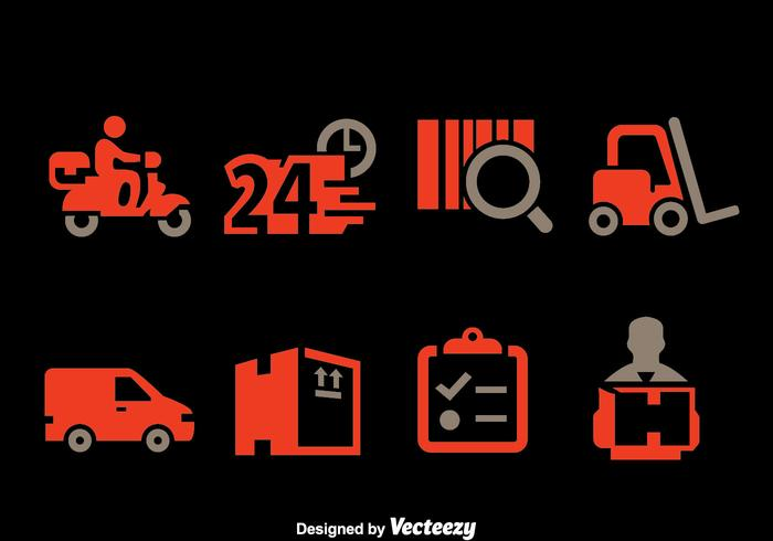 Delivery Element Icons Vector