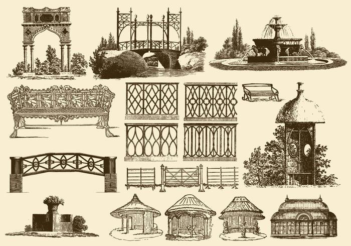Decoração de jardim vintage