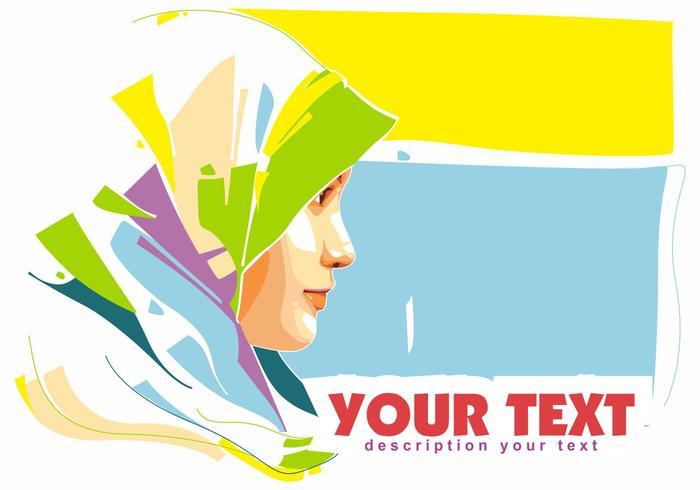 Hijab islamic woman popart portrait