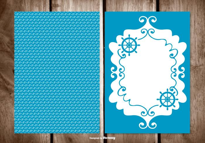 Blank Sailor Style Greeting Card Template - Download Free Vector Art ...