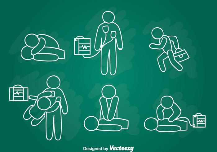 Emergency First Aid Hand Draw Vector