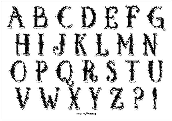 Hydro74 Vector Alphabet Style