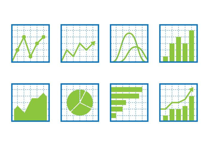 Conjunto de iconos de gráficos