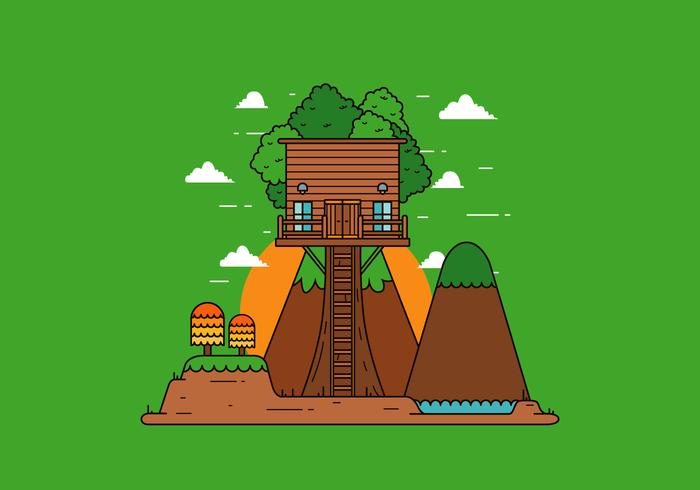 Vecteur gratuit Tree House
