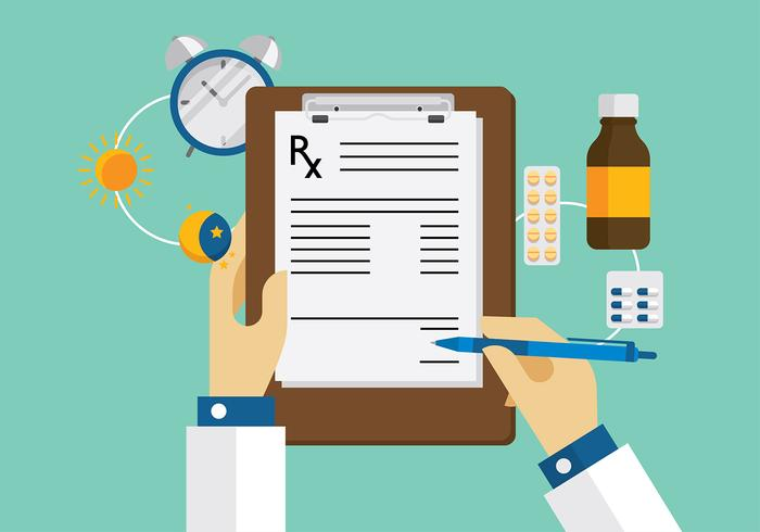 Prescription Pad Workspace Vector