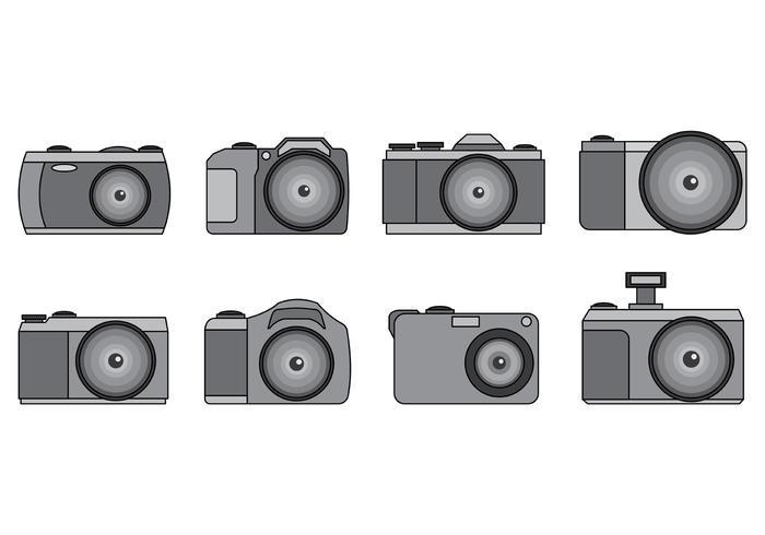 Set Of Camara Vector