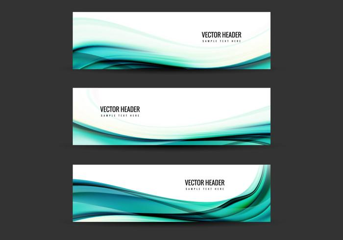 Free Vector Blue Header