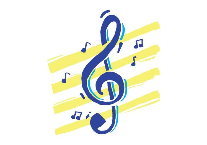 Violinschlüssel mit künstlerischem Hintergrund