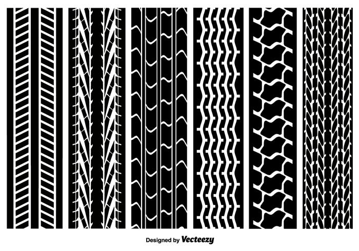 Seamless Tire Marks Vector Pack