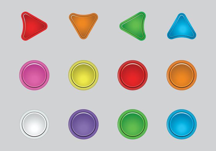 Free Arcade Button Vector