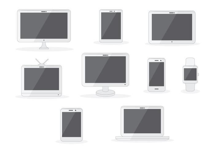 Free Flat Screen Flat Flat Vector