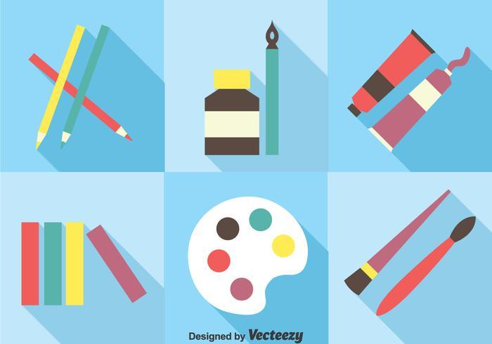 Set di strumenti di vernice vettoriale