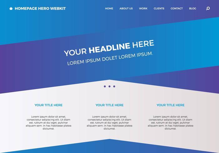 Page d'accueil gratuite hero webkit 4