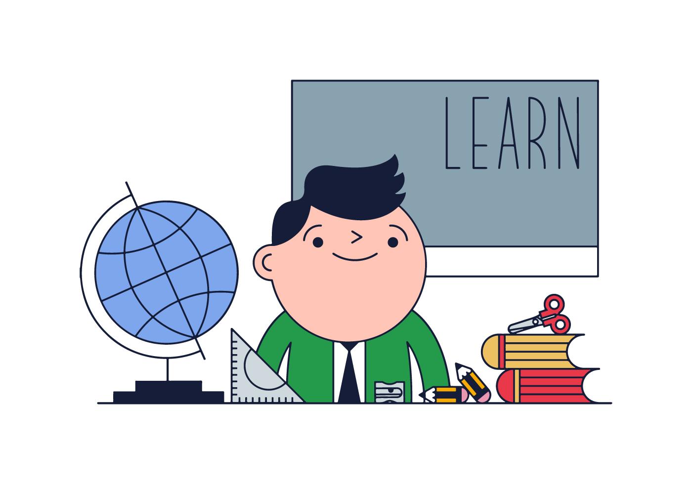 Classroom Design Drawing ~ Free teacher vector download art stock