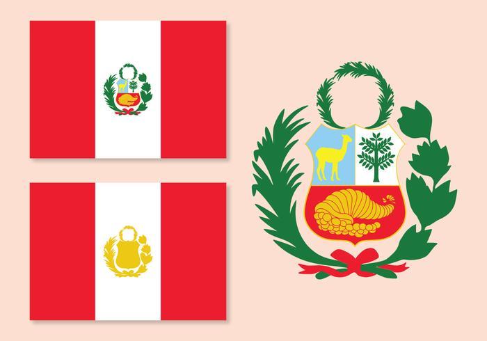 Vektor Peru Flagga