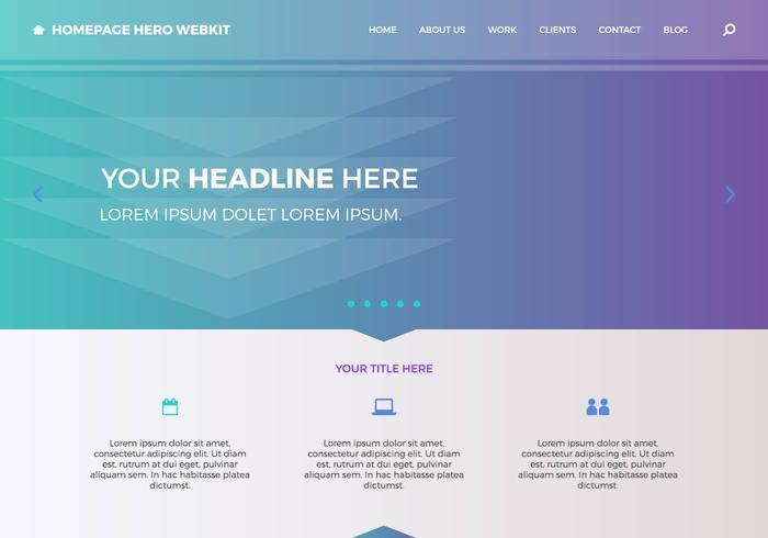 Homepage Hero Herokit gratuito 1 vettore