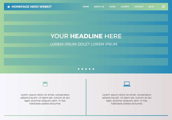 Kostenlose Homepage Hero Webkit 2 vektor