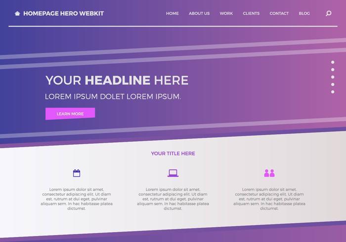 Héroe de página de inicio gratuito Webkit 3 vector