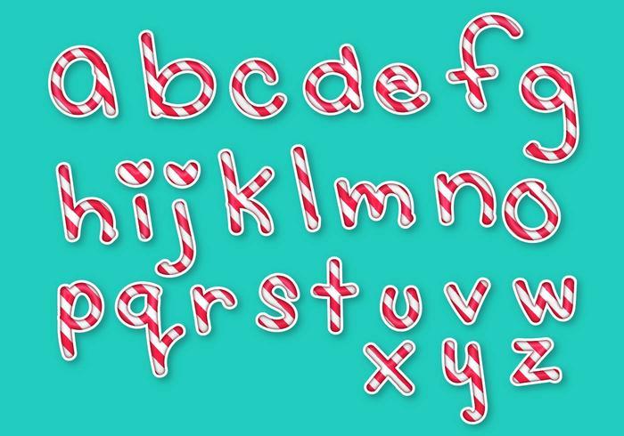 Letras bokstäver alfabet godis set vektor