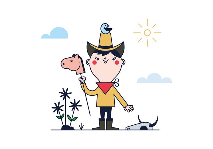 Free Little Cowboy Vector