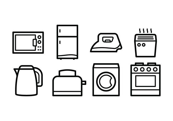 Gratis Huishoudelijke Pictogrammen vector