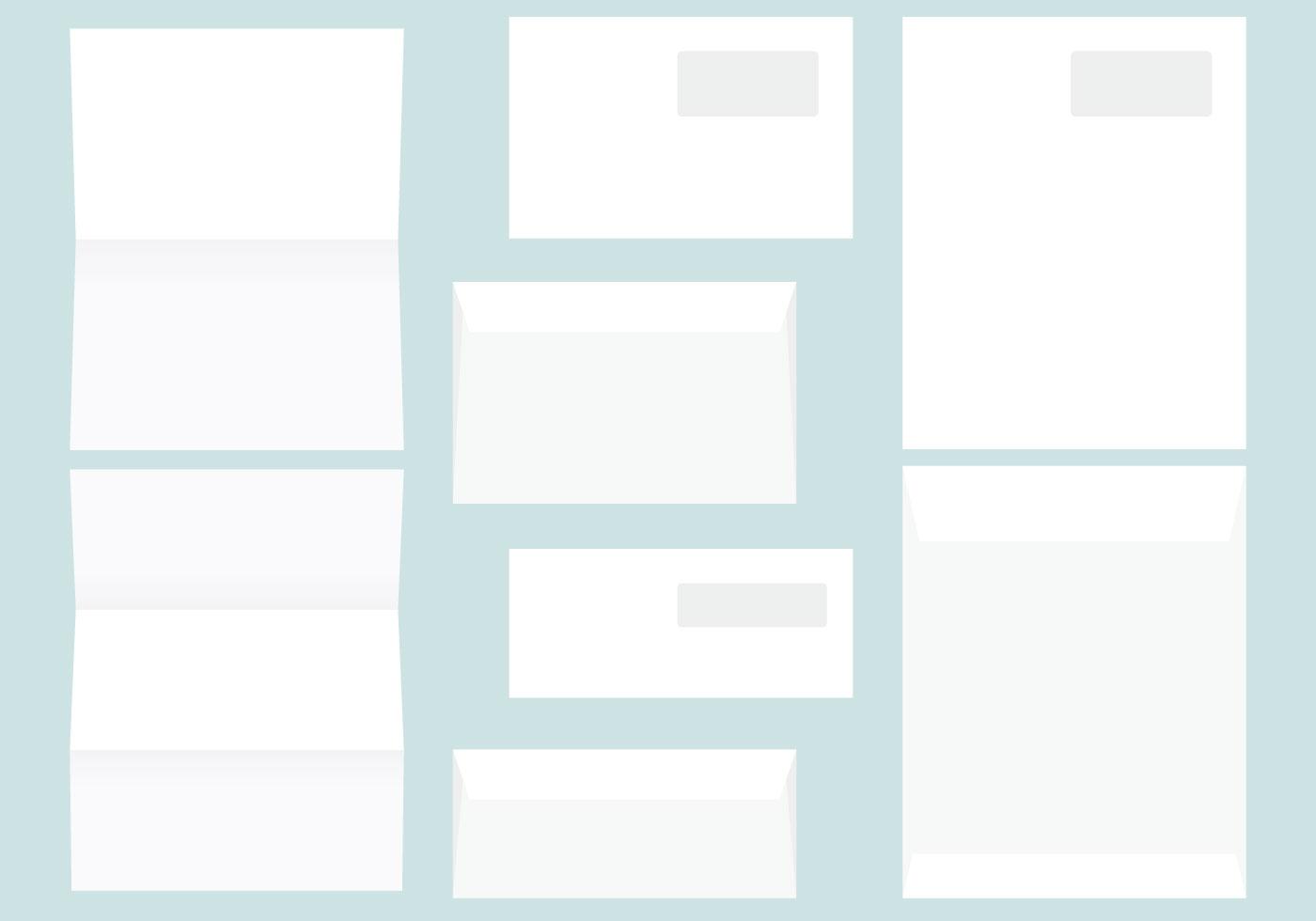 Brief- und Briefumschlagvorlagen - Kostenlose Vektor-Kunst, Archiv ...