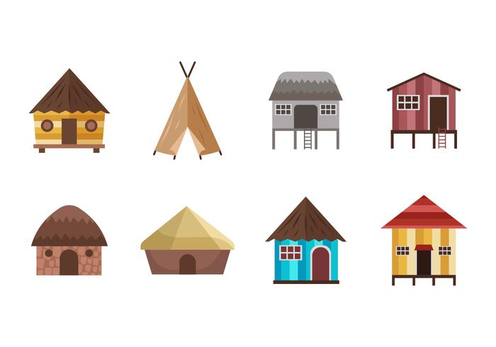 Free Shack and Traditional Housed Vectors