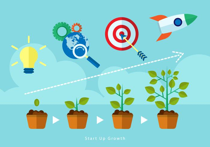 Free Start Up Growth Illustration Vector