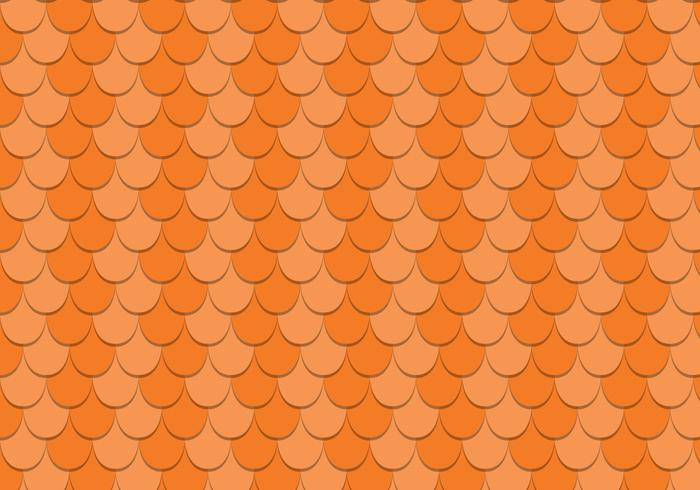 Scalloped Rooftop Vector Pattern
