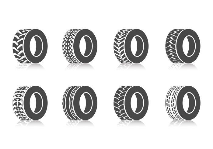 Kostenlose Traktor Reifen Vektor