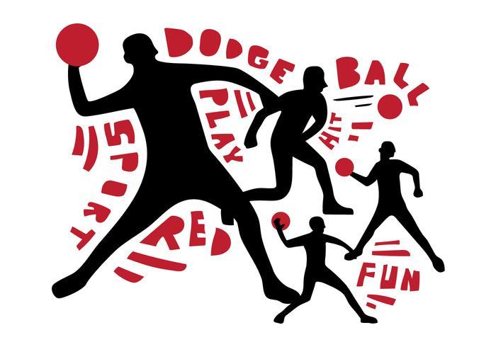 Free Dodgeball Spieler Vektor Poster