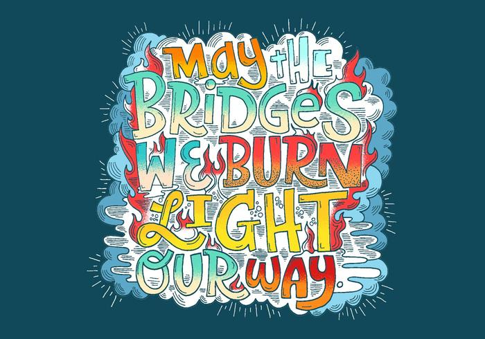Light Our Way Lettering Vector