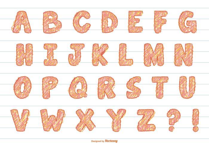 Fun Scribble Vector Alphabet