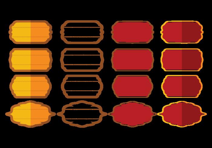 Ramar eller kartonger Vector vol.2