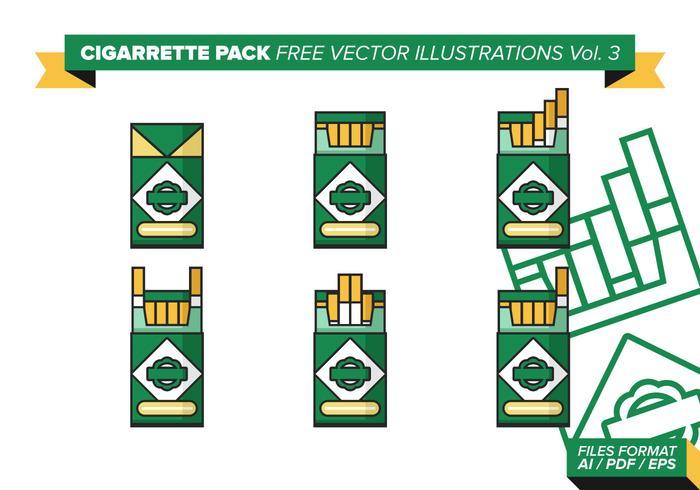 Pacote de cigarros ilustrações vetoriais livres vol. 3