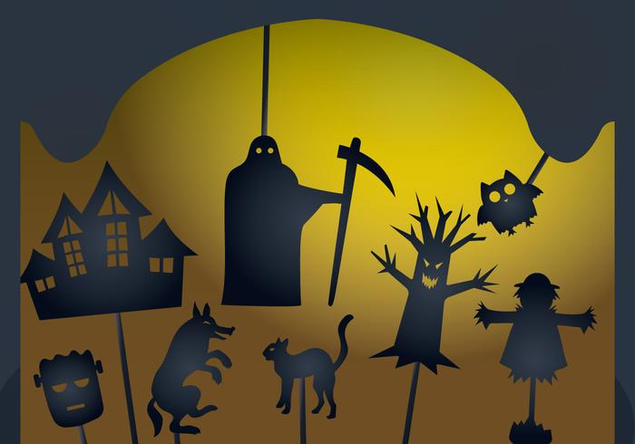 Glowing Halloween Shadow Puppet