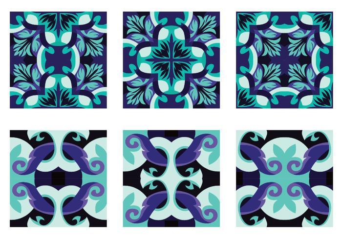 Bonito vetor de azulejos portugueses