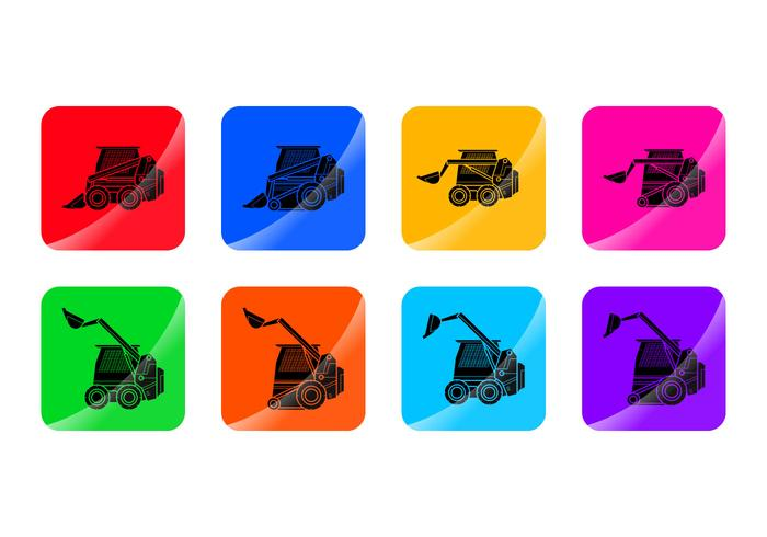 Free Skid Steer Icon Vector