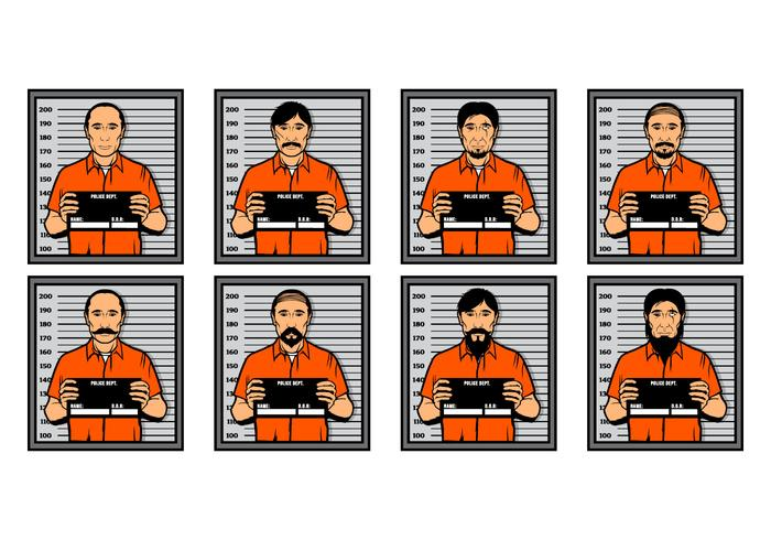 Illustration vectorielle gratuite de Mugshot vecteur