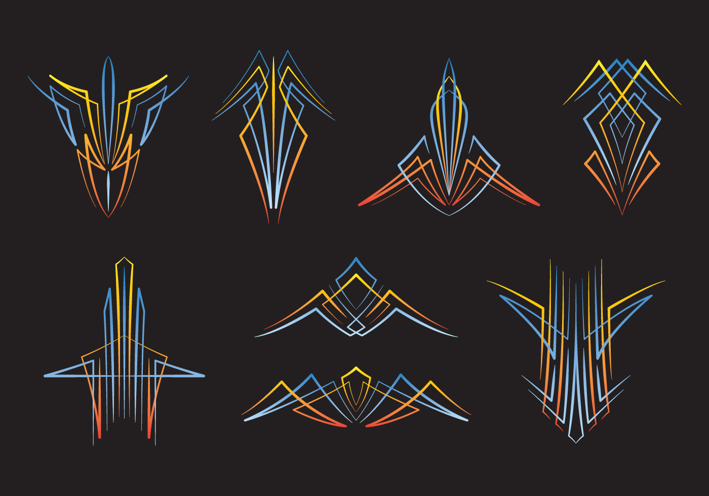 Hotrod Pinstripes Download Free Vector Art Stock