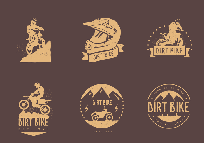 Dirt Bike Vintage Logo Vectors